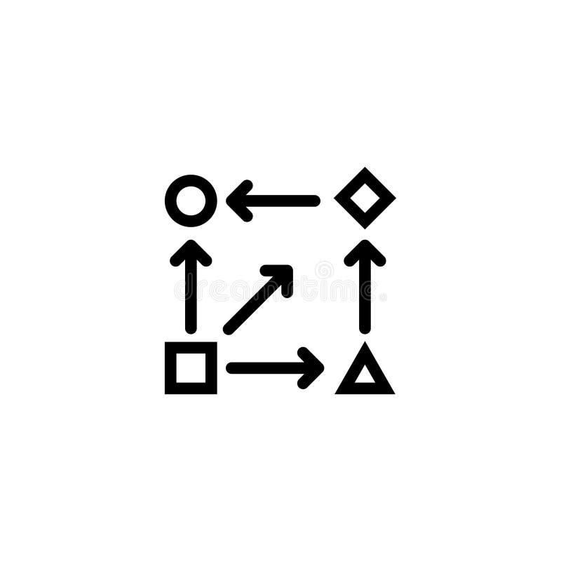 Algorytm ikona, wektor na białym tle royalty ilustracja