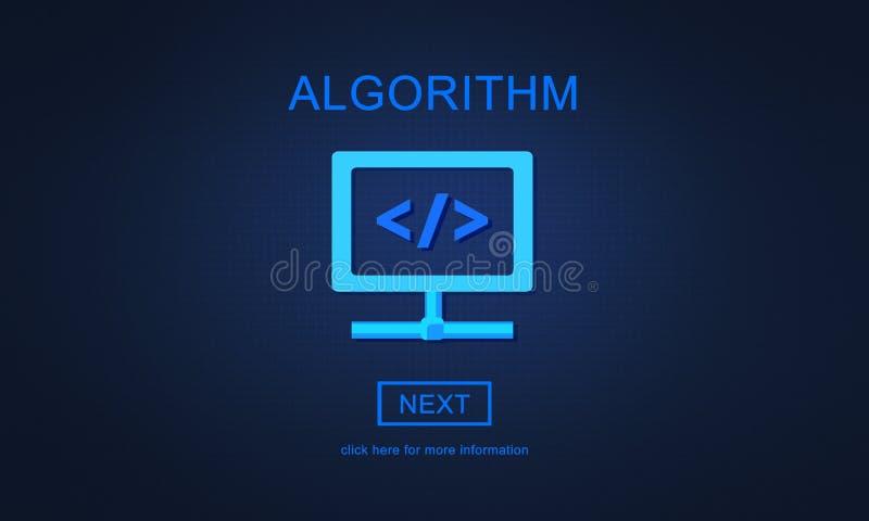 Algorytm metody zasad programowania Proces pojęcie ilustracja wektor