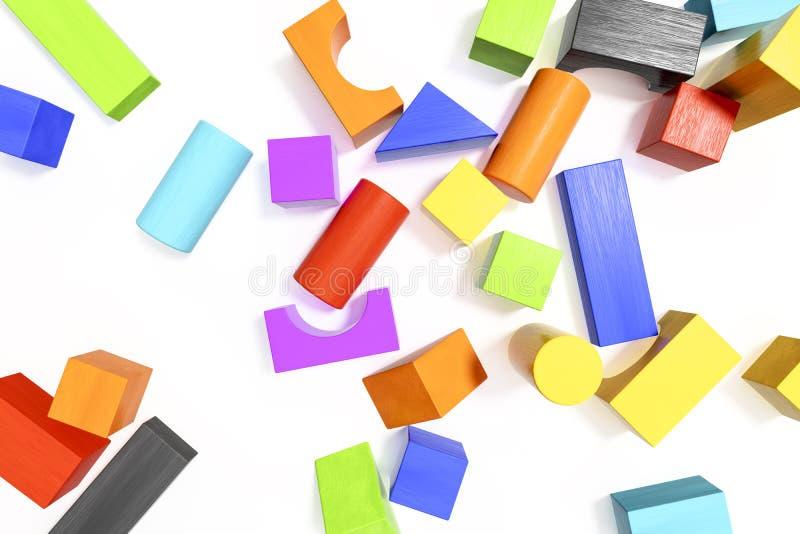 algum fundo colorido dos blocos de apartamentos ilustração stock