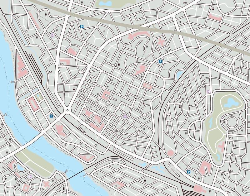 Algum mapa da cidade ilustração royalty free