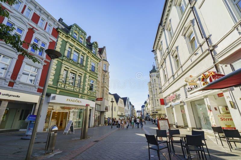 Alguma opinião bonita da rua de Iserlohn do centro foto de stock royalty free