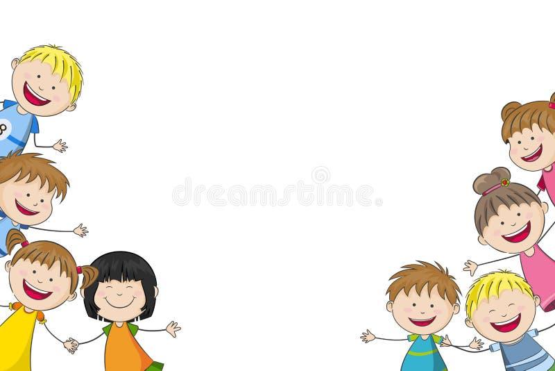 Algumas crianças engraçadas ilustração royalty free