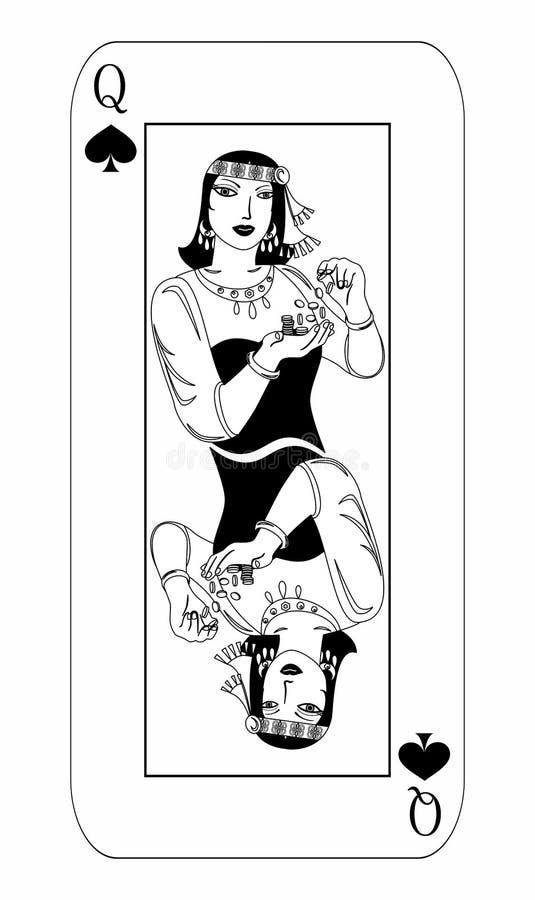 Alguna reina de la tarjeta ilustración del vector