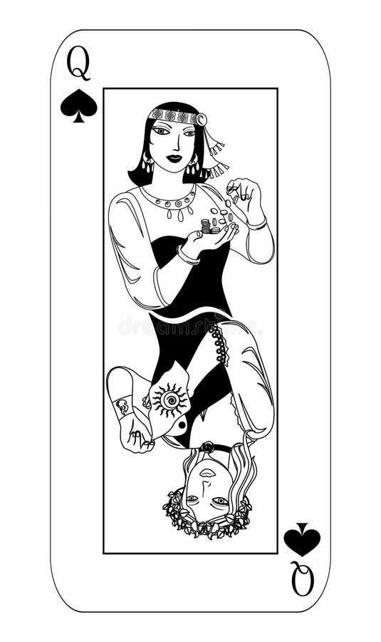 Alguna reina de la tarjeta stock de ilustración