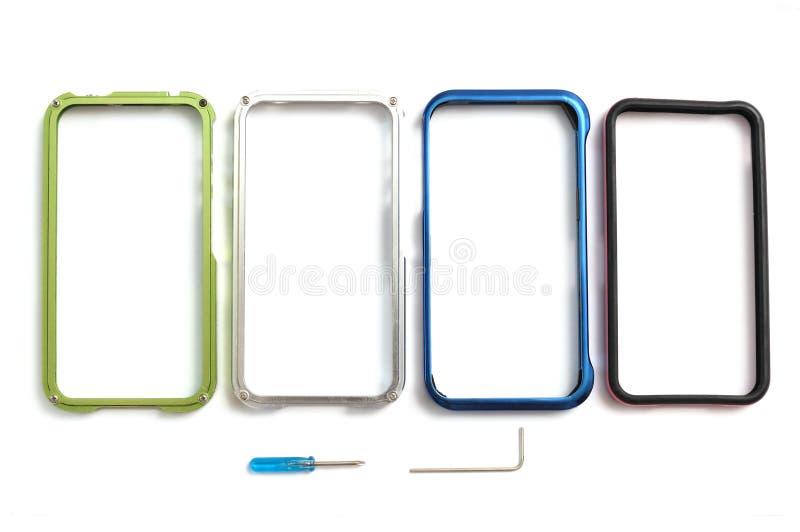 Algunos casos de la cubierta del borde del smartphone con las herramientas desprendibles fotos de archivo