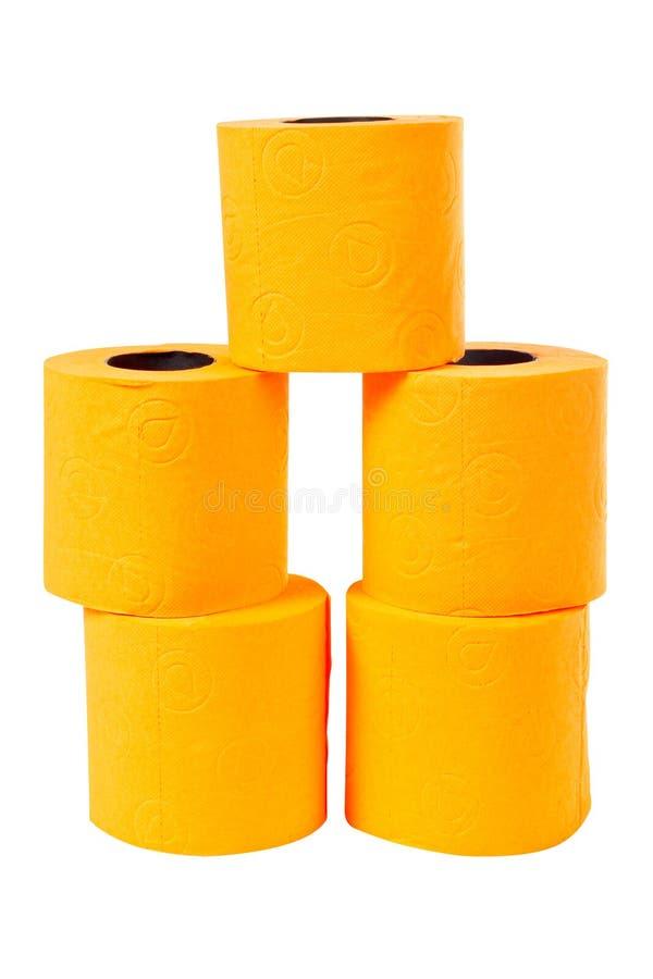 Algunos rodillos del papel higiénico imagen de archivo