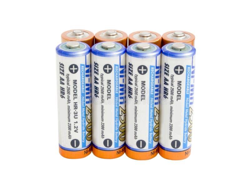 Alguns batterys imagens de stock royalty free