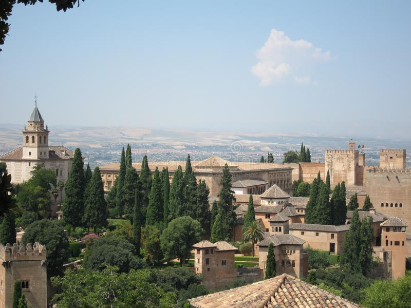 Alhambra à Grenade, Espagne images stock