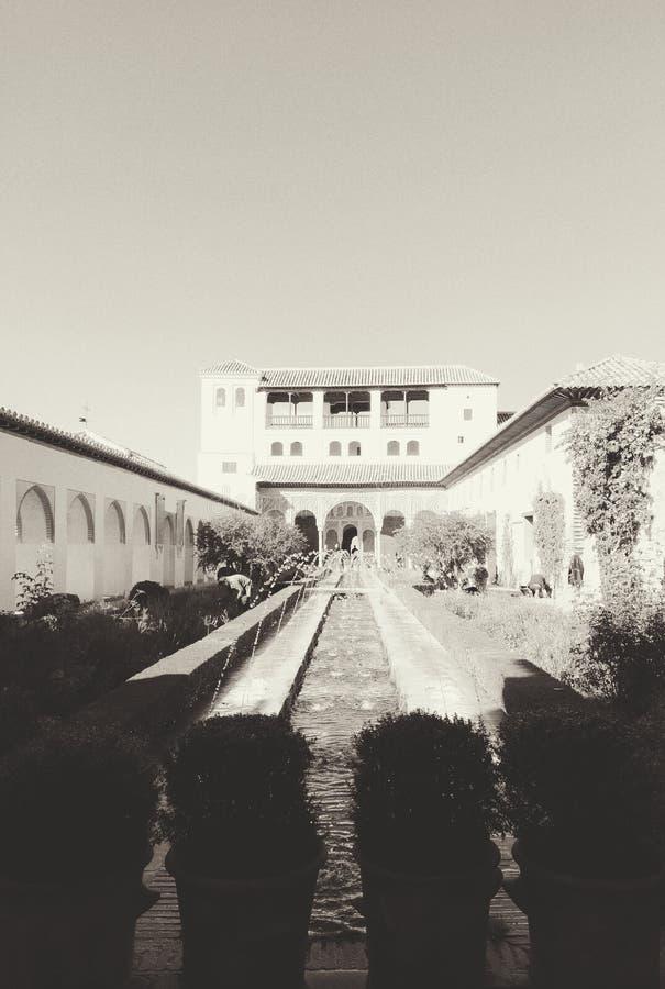 Alhambra à Grenade, Espagne images libres de droits