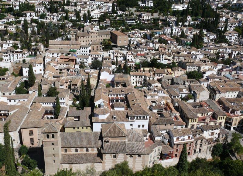 alhambra Γρανάδα όψη παλατιών στοκ φωτογραφία με δικαίωμα ελεύθερης χρήσης