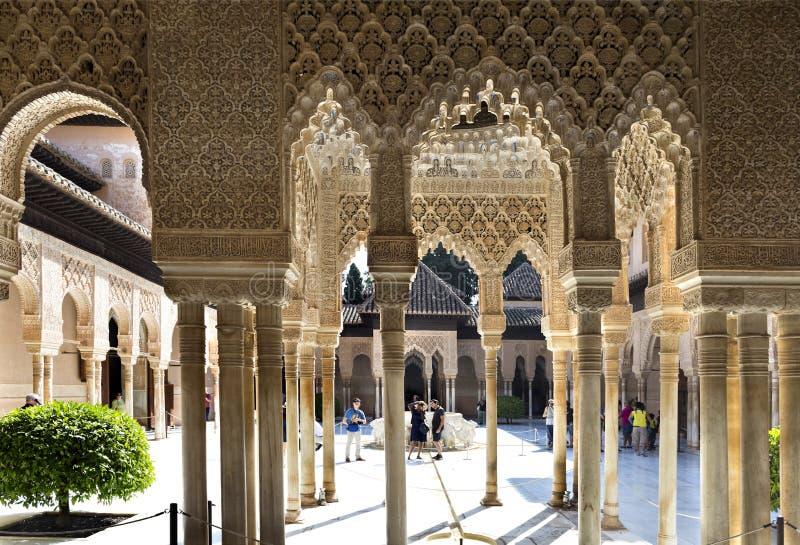 Alhambra δικαστήριο των λιονταριών στοκ φωτογραφίες με δικαίωμα ελεύθερης χρήσης