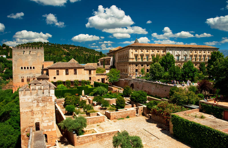 alhambra κήπος στοκ εικόνα με δικαίωμα ελεύθερης χρήσης