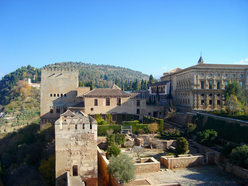 alhambra κτήρια στοκ φωτογραφία