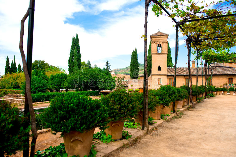 alhambra προαύλιο στοκ εικόνα