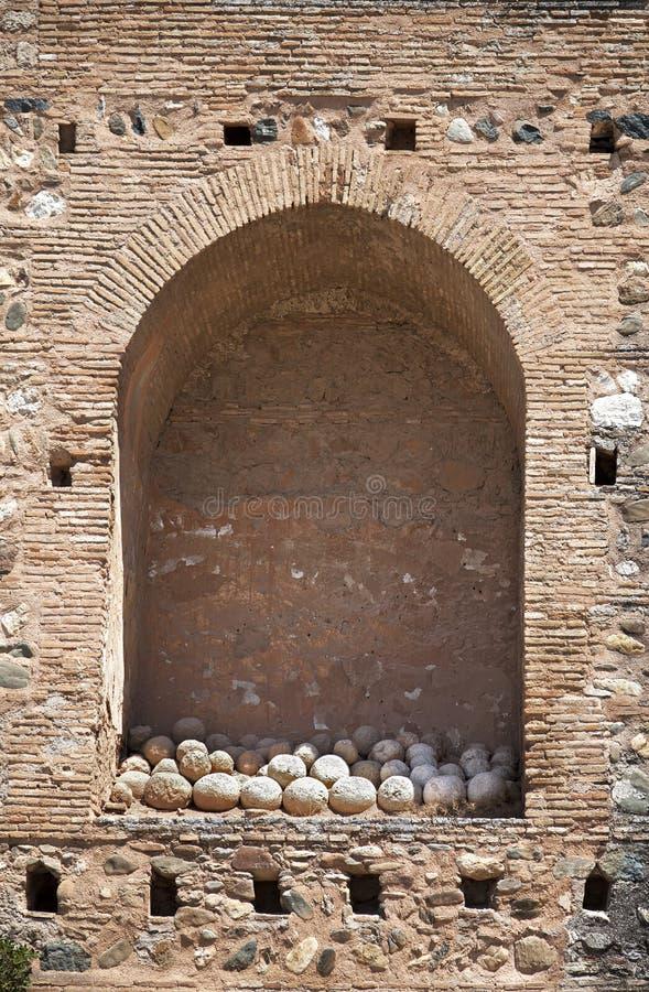 alhambra τοίχος κοιλοτήτων στοκ εικόνα