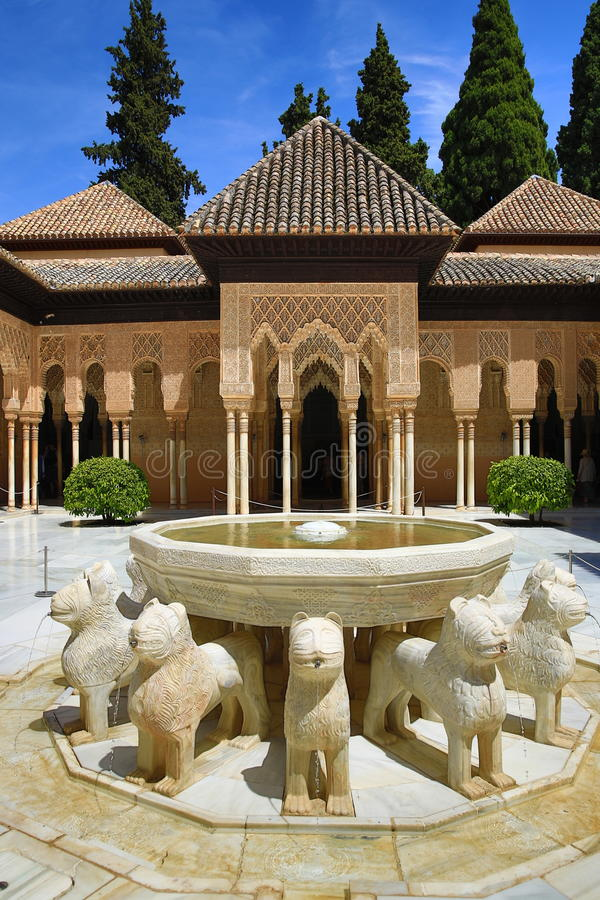 Alhambra, Andalusien, Granada, Spanien lizenzfreies stockbild