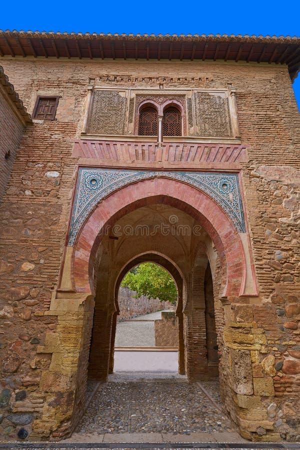 Alhambra arch Puerta del vino in Granada royalty free stock photo