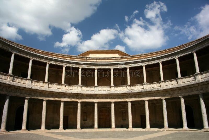 alhambra carlo granada slott spain v royaltyfria foton