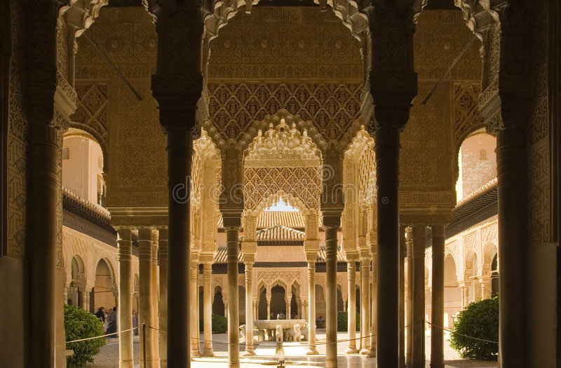 Alhambra Columns royalty free stock photo