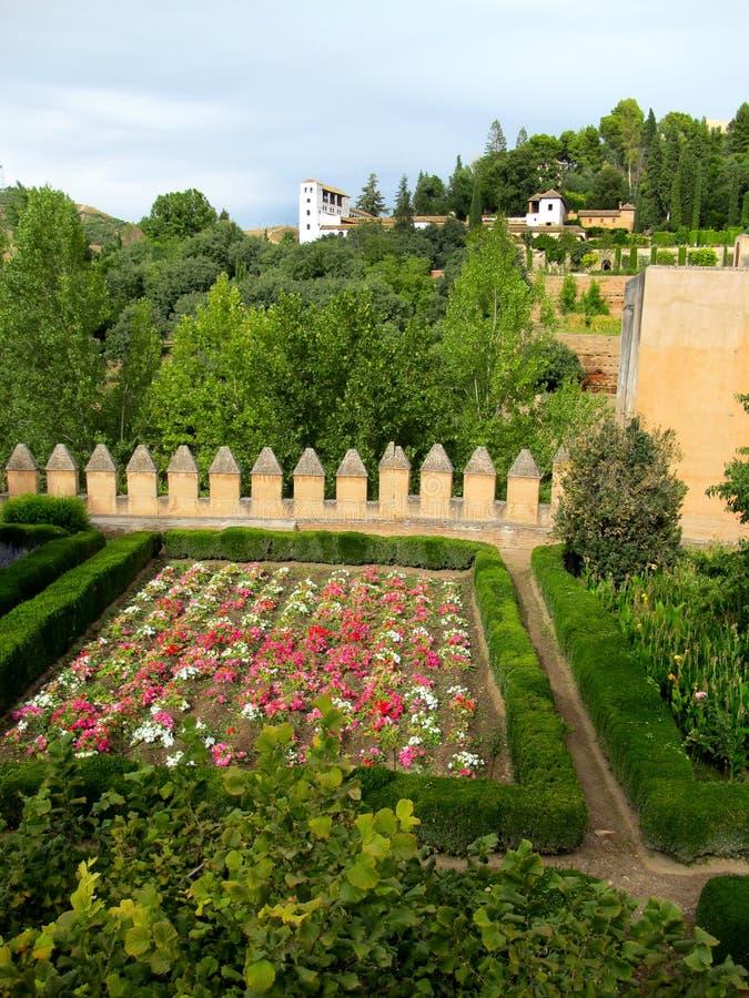 Alhambra Complexe Tuin en Generalife royalty-vrije stock fotografie