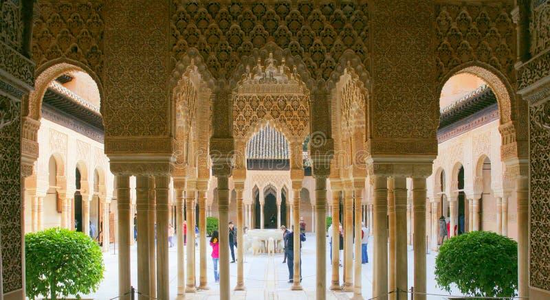 Alhambra Court des lions photos stock