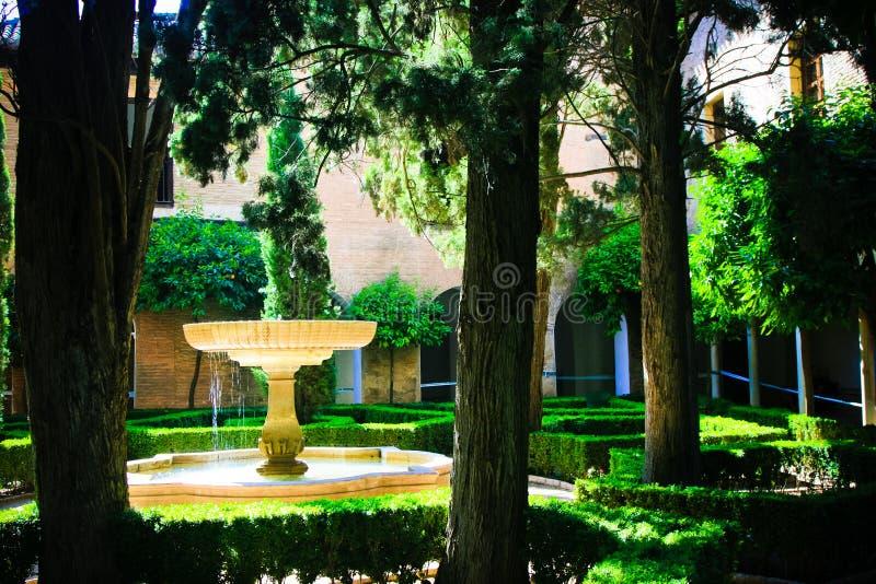 Alhambra- Courtyard Garden stock photo