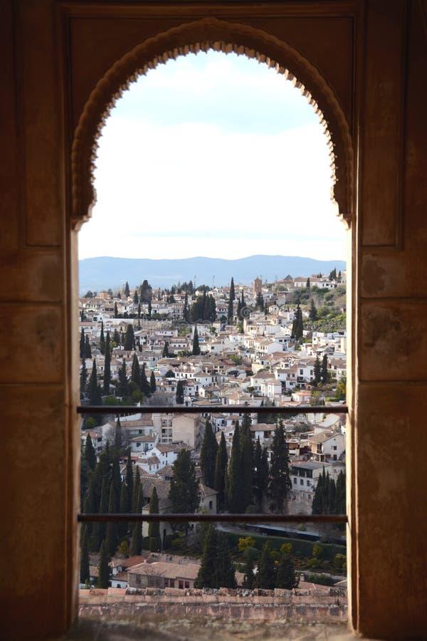Alhambra dans la région de Generalife image stock