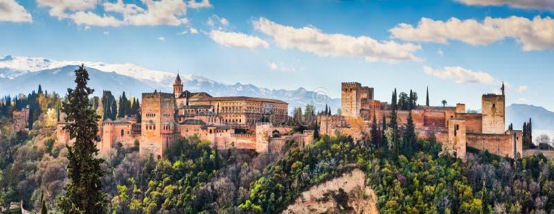 Alhambra de Granada Andalusia, Spanien arkivfoton