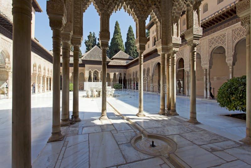 Alhambra de Granada, a Andaluzia, Spain fotos de stock royalty free
