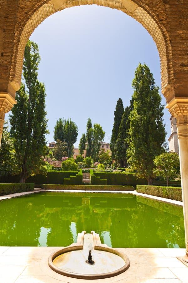 Alhambra De Granada Gardens Stock Photos
