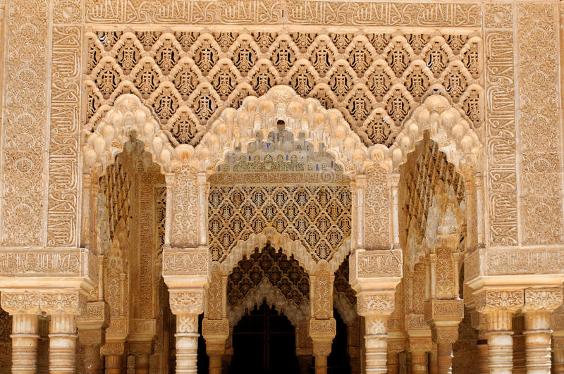 Alhambra detaljer royaltyfria foton
