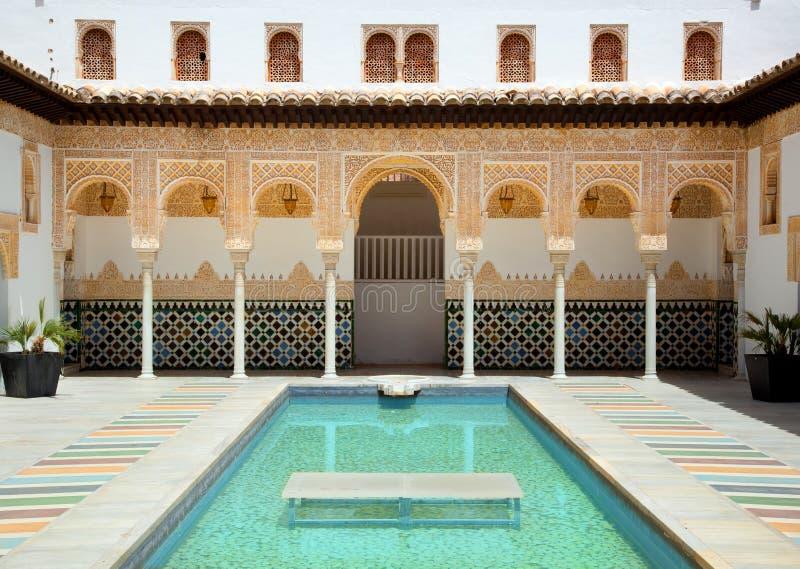 Alhambra di Poble Espanyol in Palma de Mallorca fotografie stock libere da diritti