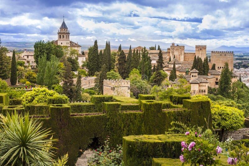 Alhambra em Granada, Spain foto de stock royalty free
