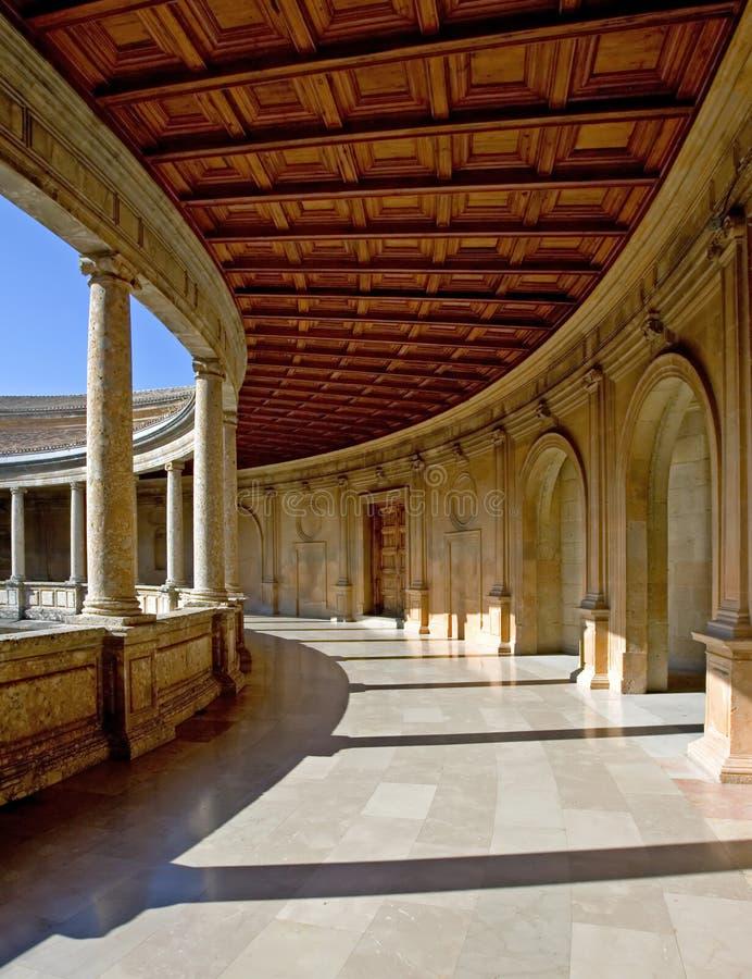 alhambra forntida arenaslott spain arkivfoto