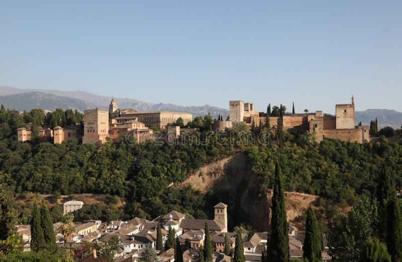 Alhambra fortfress. Granada, Hiszpania zdjęcie stock