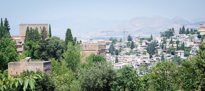Alhambra in Granada stockbilder
