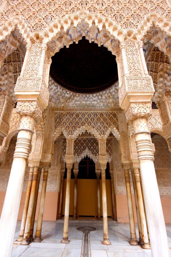 alhambra granada moorishslott spain royaltyfri bild