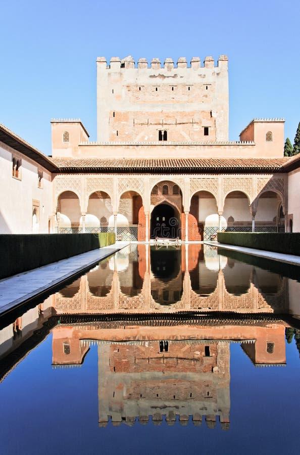 alhambra Granada nazaries palacio zdjęcie stock