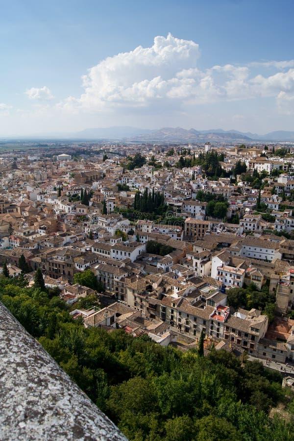 alhambra granada sikt royaltyfria bilder