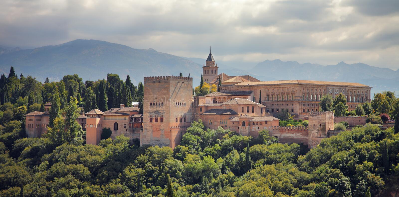 alhambra granada slott spain arkivbild