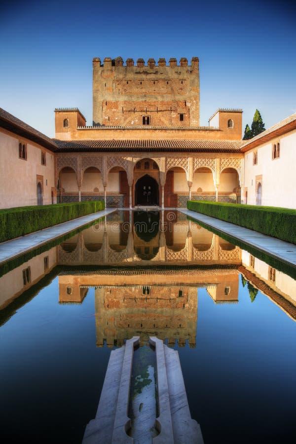 alhambra granada slott spain royaltyfri foto