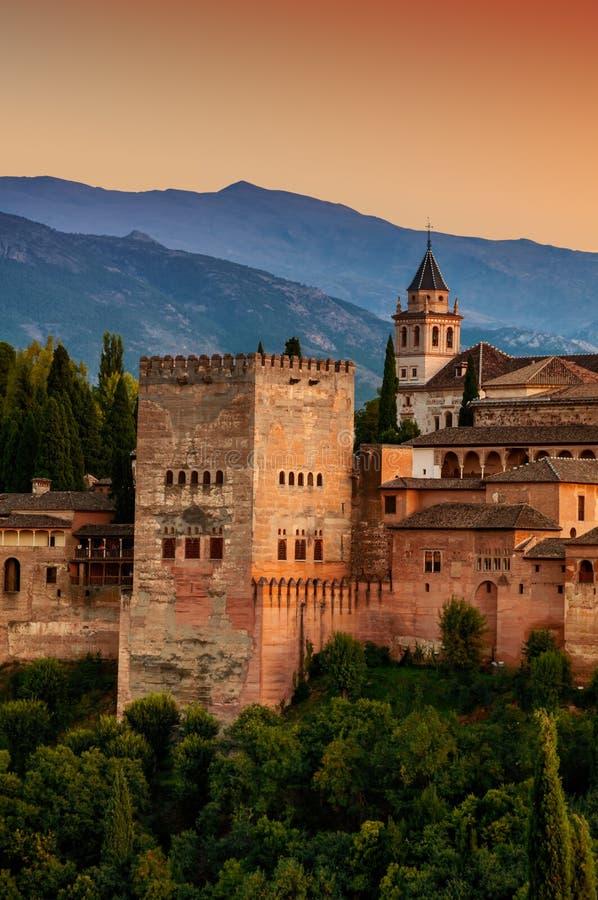 alhambra granada slott spain arkivfoto
