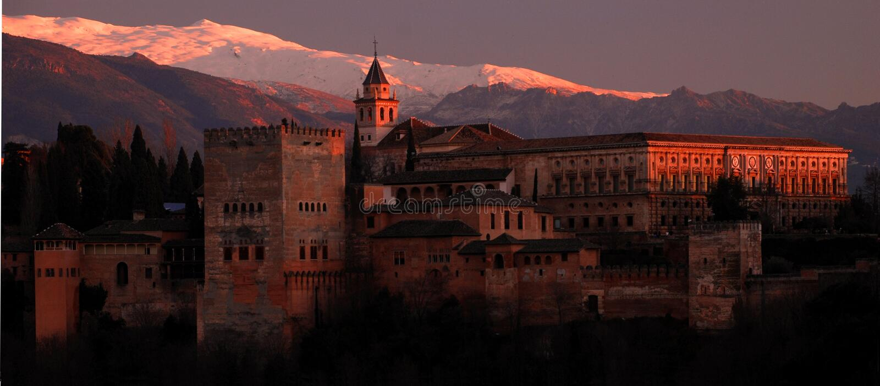 Alhambra, Granada, Spagna fotografia stock libera da diritti