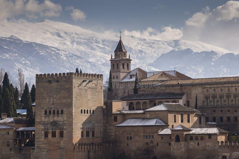 alhambra granada spain arkivfoton