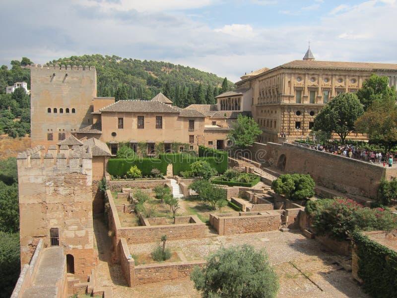 Alhambra at Granada, Spain stock image