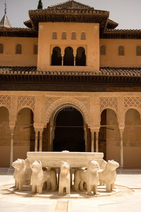 Alhambra Granada Spanien arkivbild
