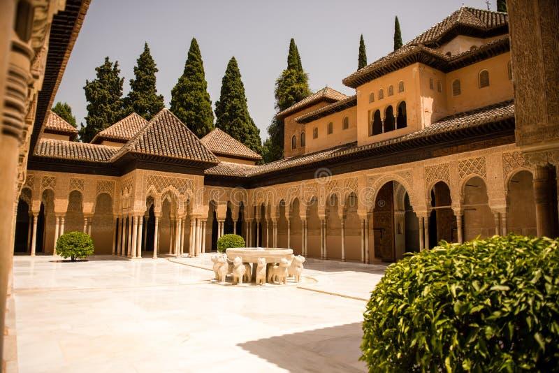 Alhambra Granada Spanien royaltyfria bilder