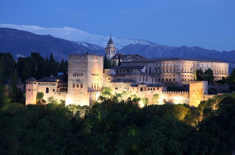 Alhambra Granada Spanje stock foto