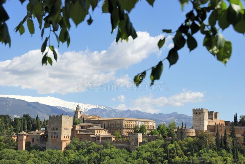 Alhambra in Granada, Spanje royalty-vrije stock afbeelding