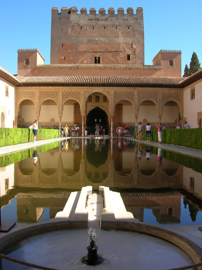 Alhambra, Grenada, Espagne images libres de droits
